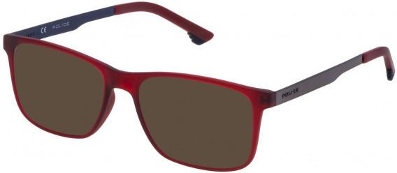 Police VK059 sunglasses in Semi Matt Red