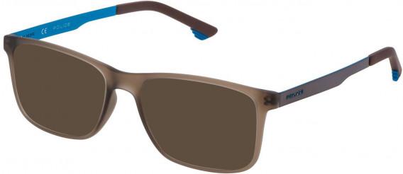 Police VK059 sunglasses in Matt Dark Brown
