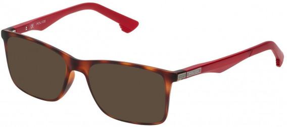 Police VK057 sunglasses in Rubberized Dark Havana