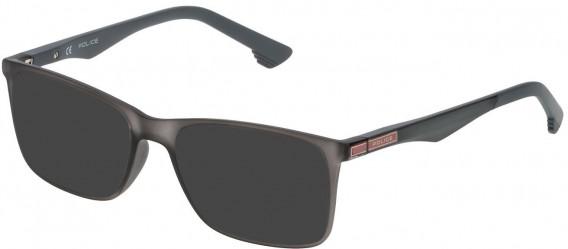 Police VK057 sunglasses in Matt Transparent Grey
