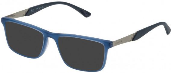 Police VK056 sunglasses in Matt Opal Blue