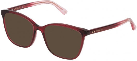 Nina Ricci VNR234 sunglasses in Shiny Transparent Red