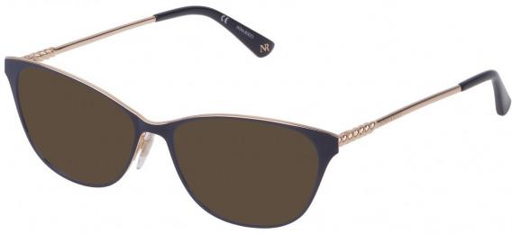 Nina Ricci VNR227 sunglasses in Shiny Rose Gold/Blue