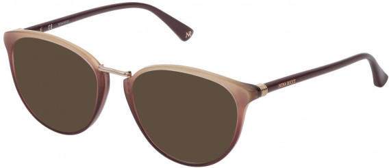 Nina Ricci VNR189 sunglasses in Shiny Bordeaux Glittery Red/Gold
