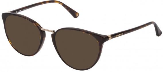 Nina Ricci VNR189 sunglasses in Shiny Dark Havana