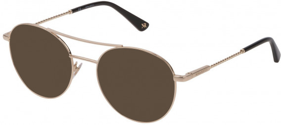 Nina Ricci VNR184 sunglasses in Shiny Light Rose Gold