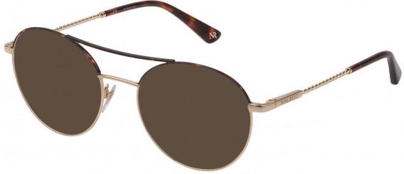 Nina Ricci VNR184 sunglasses in Shiny Rose Gold/Havana