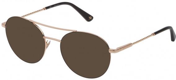 Nina Ricci VNR184 sunglasses in Shiny Rose Gold/Black