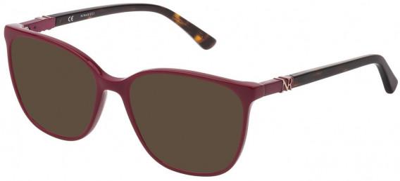 Nina Ricci VNR182 sunglasses in Shiny Full Raspberry