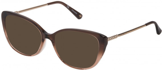 Nina Ricci VNR173 sunglasses in Light Brown Gradient Dark Brown