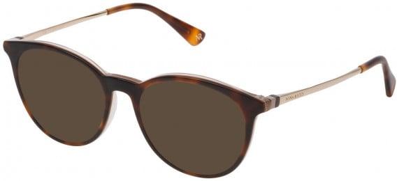Nina Ricci VNR147 sunglasses in Shiny Havana/Beige/Light Blue
