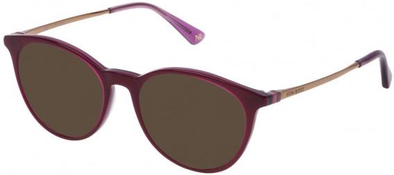 Nina Ricci VNR147 sunglasses in Top Plum/Transparent Plum