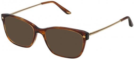Nina Ricci VNR133 sunglasses in Shiny Striped Brown/Mustard