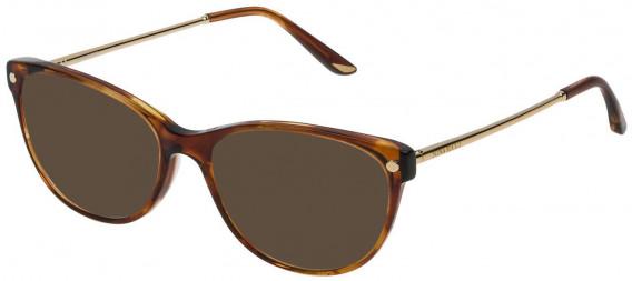 Nina Ricci VNR132 sunglasses in Shiny Striped Brown/Mustard