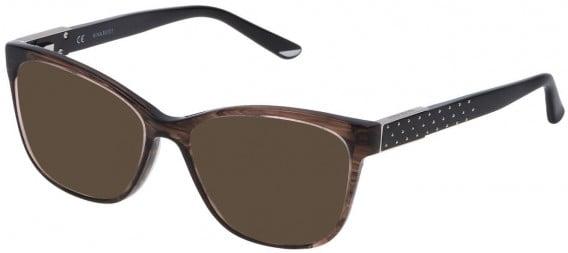 Nina Ricci VNR129 sunglasses in Shiny Striped Grey/Brown