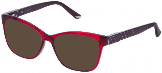 Nina Ricci VNR129 sunglasses in Shiny Striped Red