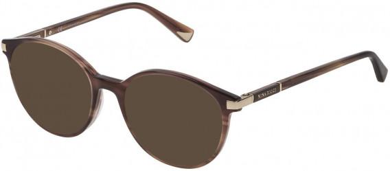 Nina Ricci VNR089 sunglasses in Shiny Striped Beige