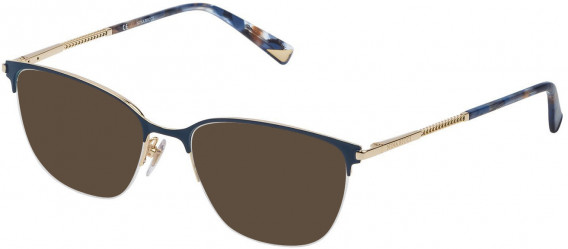 Nina Ricci VNR085 sunglasses in Shiny Rose Gold/Blue