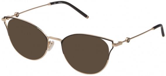 Mulberry VML047 sunglasses in Shiny Rose Gold/Havana