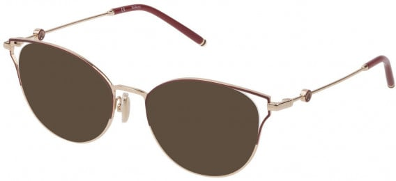 Mulberry VML047 sunglasses in Shiny Rose Gold/Bordeaux