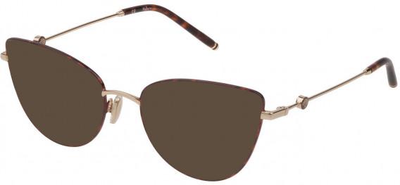 Mulberry VML046 sunglasses in Shiny Rose Gold/Havana