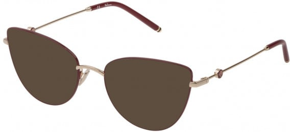 Mulberry VML046 sunglasses in Shiny Rose Gold/Bordeaux