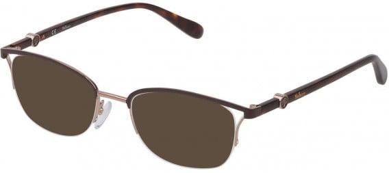 Mulberry VML029 sunglasses in Shiny Red Gold/Full Dark Brown