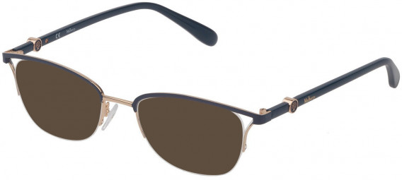 Mulberry VML029 sunglasses in Shiny Rose Gold/Blue