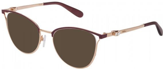 Mulberry VML028S sunglasses in Shiny Rose Gold/Bordeaux