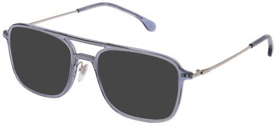 Lozza VL4213 sunglasses in Shiny Transparent Blue