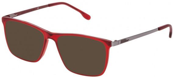 Lozza VL4199 sunglasses in Matt Transparent Bordeaux Red