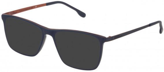 Lozza VL4199 sunglasses in Matt Full Cobalt Blue