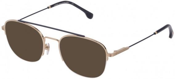 Lozza VL2352 sunglasses in Shiny Rose Gold/Blue