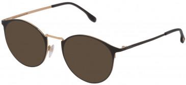Lozza VL2341 sunglasses in Rose Gold/Semi Matt Black