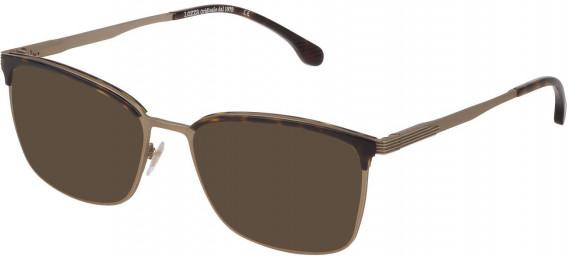 Lozza VL2339 sunglasses in Semi Matt Grey Gold/Shiny