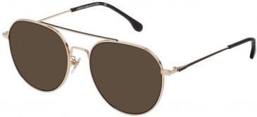 Lozza VL2330 sunglasses in Rose Gold/Semi Matt Black