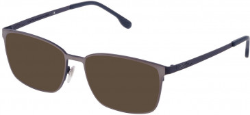 Lozza VL2326 sunglasses in Shiny Gun/Shiny Blue