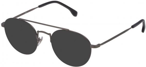 Lozza VL2308 sunglasses in Matt Gun Metal/Shiny Black
