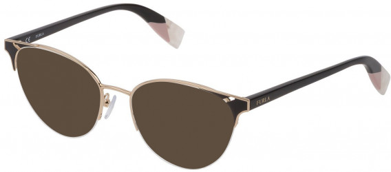 Furla VFU361 sunglasses in Shiny Rose Gold/Black