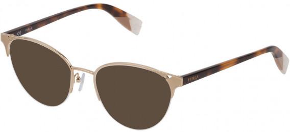 Furla VFU361 sunglasses in Shiny Rose Gold