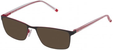 Fila VF9837 sunglasses in Matt Black/Red