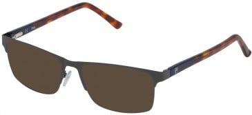 Fila VF9836 sunglasses in Shiny Gun