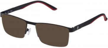 Fila VF9809 sunglasses in Semi Matt Black