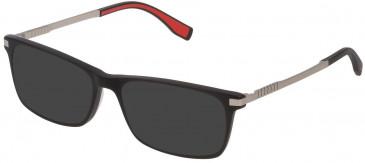 Fila VF9323 sunglasses in Matt/Sandblasted Black