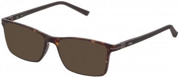 Fila VF9277 sunglasses in Matt Dark Havana