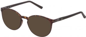 Fila VF9276 sunglasses in Matt Dark Havana