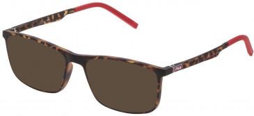 Fila VF9191 sunglasses in Matt Dark Havana
