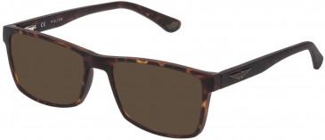 Police VK074 sunglasses in Matt Dark Havana