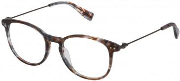Trussardi VTR245 glasses in Shiny Striped Red/Grey