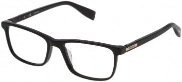 Trussardi VTR242 glasses in Striped Bicolor Brown
